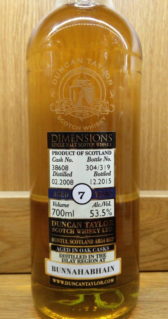 Duncan Taylor Bunnahabhain 7 Years Old Dimensions Cask Strength