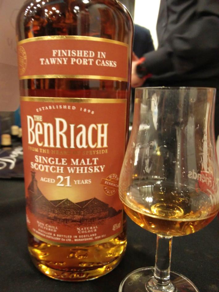 BenRiach 21  Tawny Port Cask Finish