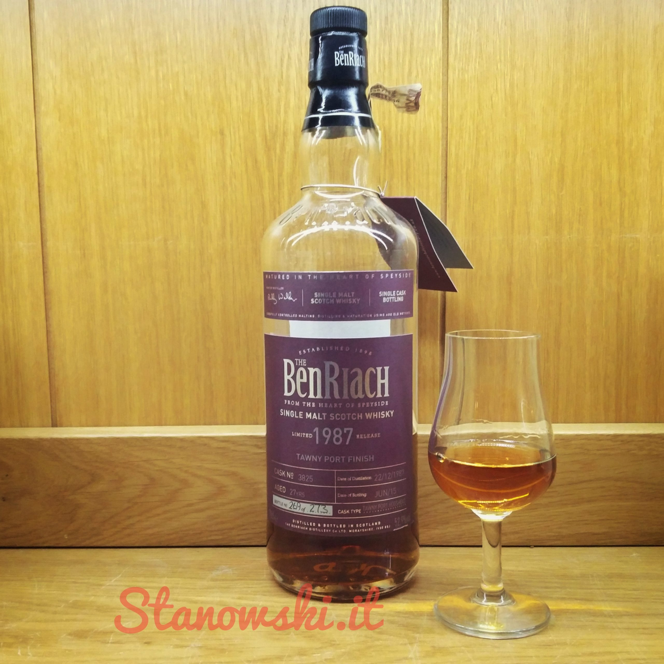 BenRiach 27 Year Old 1987 (cask 3825) - Tawny Port Cask
